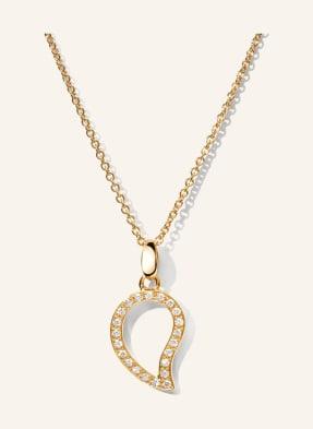 TAMARA COMOLLI Halskette SIGNATURE SMALL aus 18 Karat Roségold mit Diamant Pavé