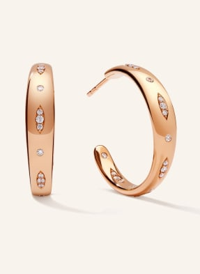 TAMARA COMOLLI Ohrringe GYPSY CREOLE LARGE aus 18 Karat Roségold mit Diamant Pavé