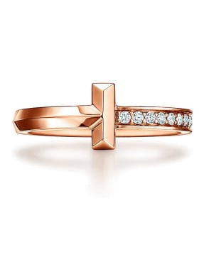 TIFFANY & Co. Diamantring TIFFANY T T ONE aus 18 Karat Roségold