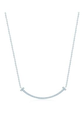 TIFFANY & Co. Anhänger TIFFANYT SMILE aus 18 Karat Weißgold mit Diamanten