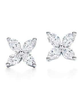 TIFFANY & Co. Ohrringe TIFFANY VICTORIA® aus Platin mit Diamanten