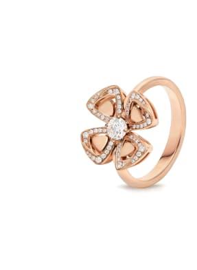 BVLGARI Ring FIOREVER aus 18 Karat Roségold und Diamanten