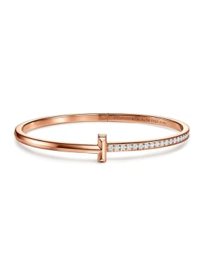 TIFFANY & Co. Armreif TIFFANY T T ONE aus 18 Karat Roségold mit Diamanten