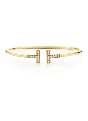 TIFFANY & Co. Armreif TIFFANY T WIRE aus 18 Karat Gold mit Diamanten