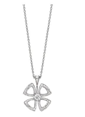 BVLGARI Halskette FIOREVER aus 18 Karat Weißgold und Diamanten