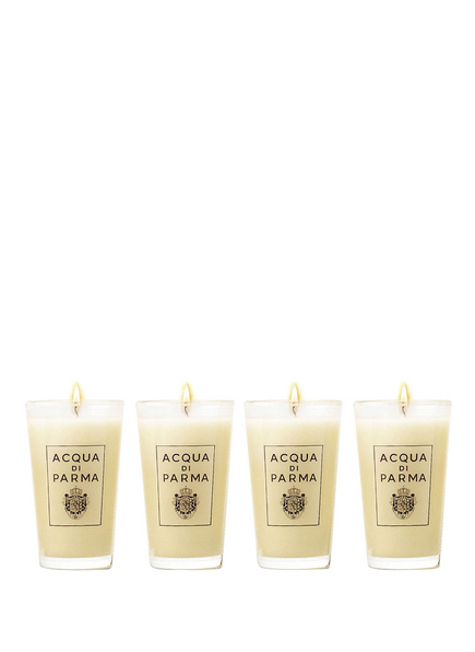 ACQUA DI PARMA BOX OF 4 SMALL GLASS CANDLES (Bild 1)