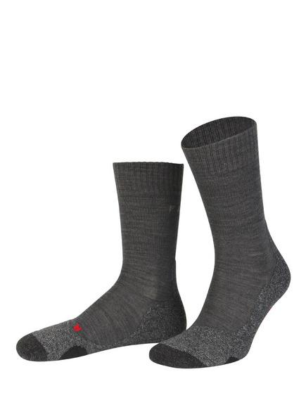 Falke Trekking-Socken tk2 Mit Merinowolle-Anteil grau