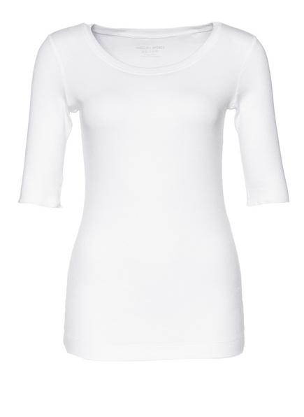 MARC CAIN Feinripp-Shirt , Farbe: 100 WEISS (Bild 1)