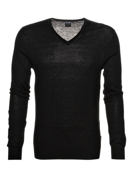 OLYMP Pullover Level Five body fit, Farbe: SCHWARZ (Bild 1)