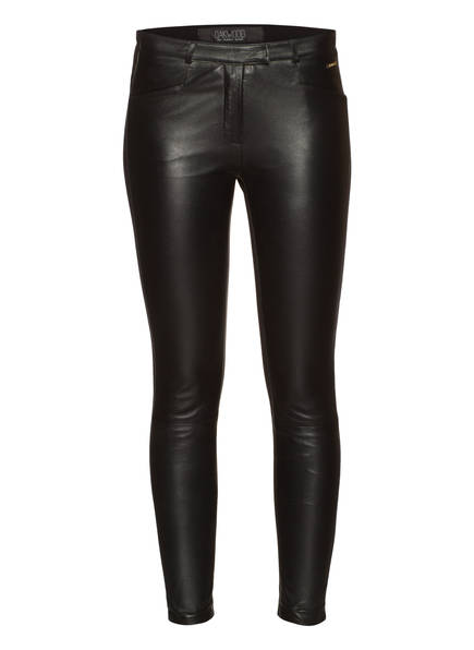 OAKWOOD Lederleggings VENUS im Materialmix