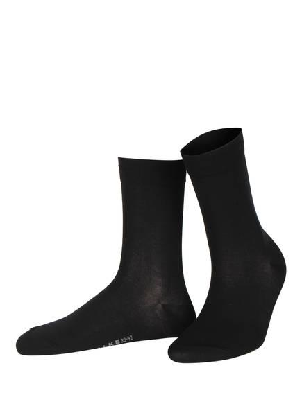 FALKE Socken COTTON TOUCH , Farbe: 3009 BLACK (Bild 1)