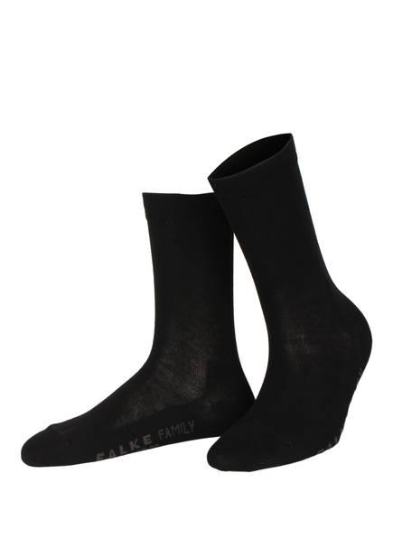 FALKE Socken FAMILY, Farbe: 3009 BLACK (Bild 1)