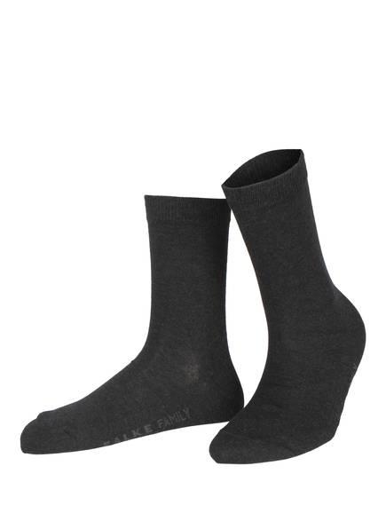 FALKE Socken FAMILY, Farbe: 3089 ANTHRACITE MEL. (Bild 1)