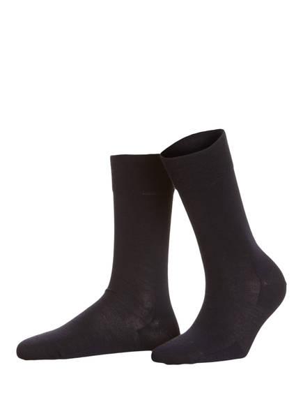 FALKE Socken BERLIN SENSITIVE, Farbe: 6379 DARK NAVY (Bild 1)