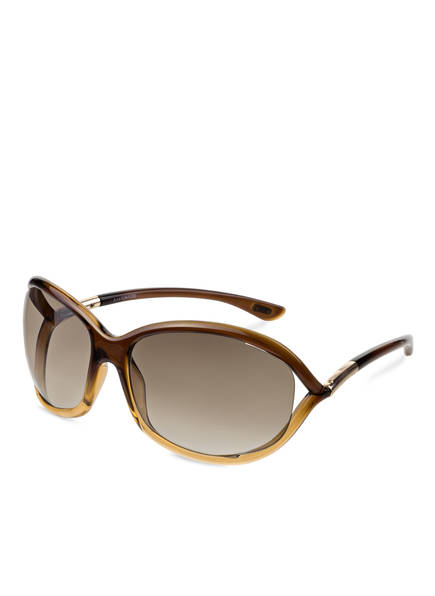 Tom Ford Damen Sonnenbrille »Jennifer FT0008«, braun, 50F - braun/braun