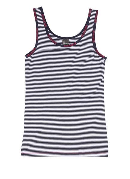 SCHIESSER Unterhemd , Farbe: WEISS/NAVY (Bild 1)