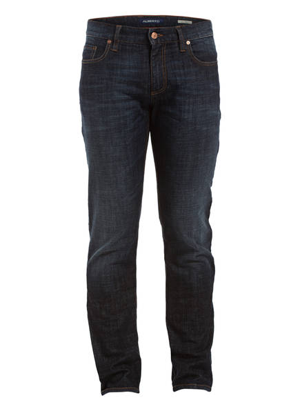 Pipe Regular Blue Jeans Dark Alberto Fit Slim 891 HfOqxw