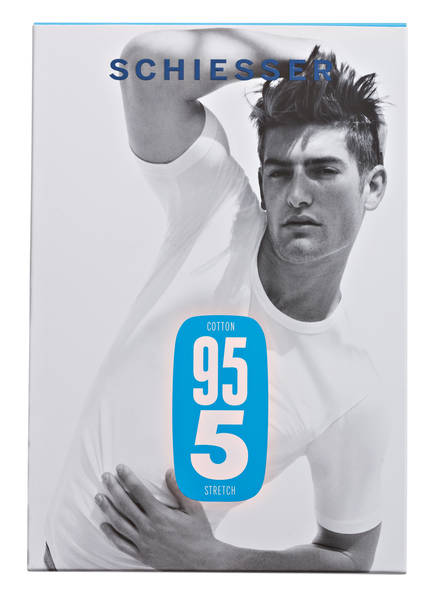 Schiesser 95 Schwarz T shirt 5 6qBr6T