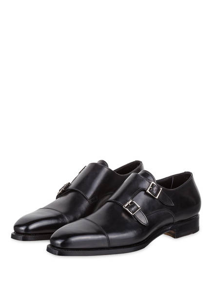 Double monks Santoni Santoni Double monks Double Santoni monks Schwarz Schwarz Schwarz Santoni wfn1A
