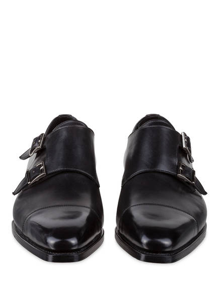 monks Double Santoni Schwarz Santoni Double q1pTtp
