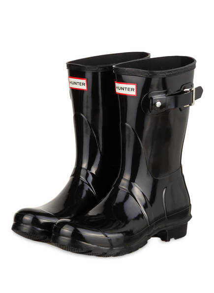 Gloss Schwarz Hunter Original Hunter Gummistiefel Gummistiefel 611qIB84