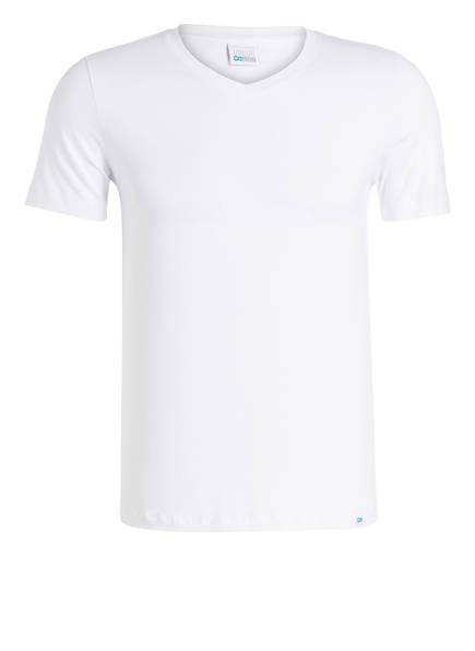 SCHIESSER V-Shirt LONG LIFE COTTON, Farbe: WEISS (Bild 1)