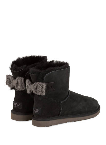 ugg boots grau mit schleife. Black Bedroom Furniture Sets. Home Design Ideas