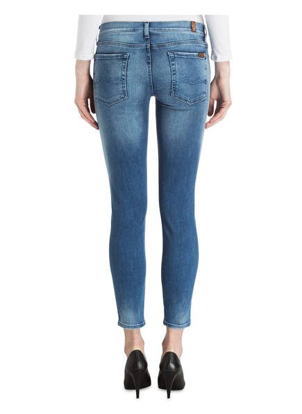 7 for all mankind Destroyed-Jeans THE SKINNY CROP