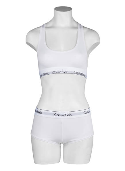 Modern Klein Bustier Weiss Cotton Calvin wBERqT