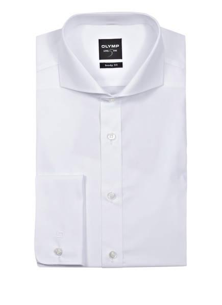 OLYMP Hemd Level Five body fit mit Umschlagmanschette, Farbe: WEISS (Bild 1)