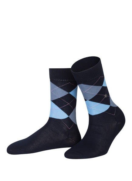 Burlington Socken COVENT GARDEN, Farbe: 6378 SAILOR-BLACK (Bild 1)