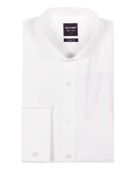 OLYMP Hemd Level Five body fit mit Umschlagmanschette, Farbe: OFFWHITE (Bild 1)
