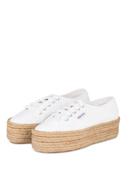 plateau sneaker cotropew im espadrilles stil von superga. Black Bedroom Furniture Sets. Home Design Ideas