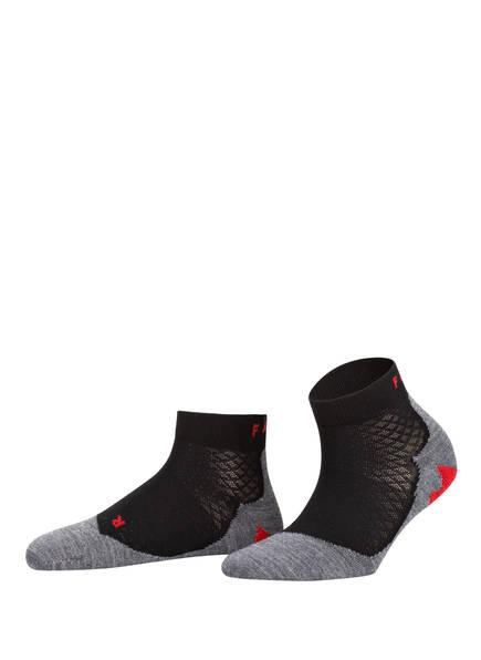 FALKE Running-Socken RU5 LIGHTWEIGHT SHORT, Farbe: 3010 BLACK-MIX (Bild 1)