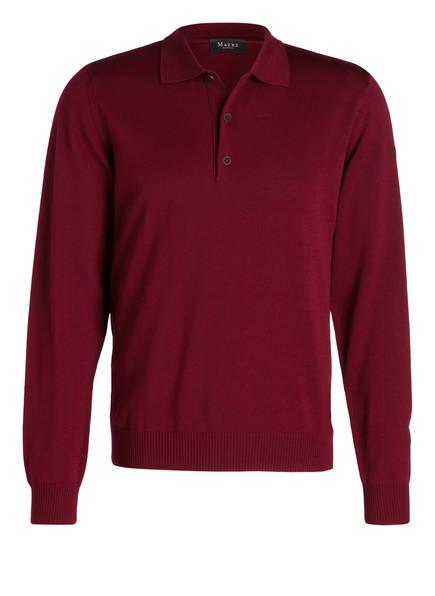 MAERZ MUENCHEN Pullover mit Polokragen aus Merinowolle, Farbe: WEINROT (Bild 1)