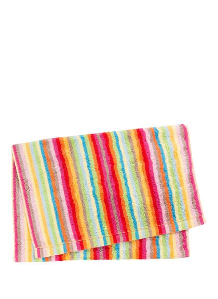 Cawö Handtuch LIFESTYLE STREIFEN, Farbe: PINK/ GRÜN/ ORANGE (Bild 1)