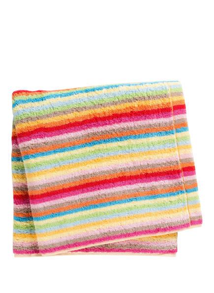 Cawö Duschtuch LIFESTYLE STREIFEN, Farbe: PINK/ GRÜN/ ORANGE (Bild 1)