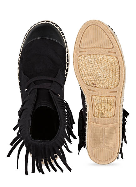 The No Animal Brand Hightop-Espadrilles mit Fransen