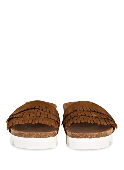 plateau sandalen mit fransen shawnne von apple of eden bei breuninger. Black Bedroom Furniture Sets. Home Design Ideas