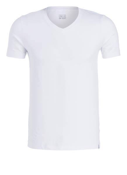 SCHIESSER V-Shirt LONG LIFE SOFT, Farbe: WEISS (Bild 1)