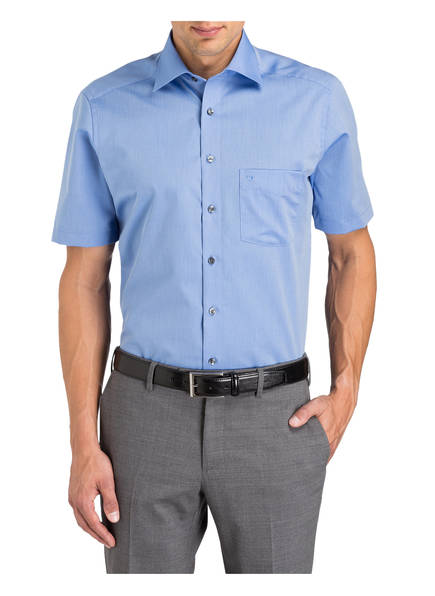 Olymp Luxor Blau hemd Halbarm Modern Fit 1arnqz1wZR