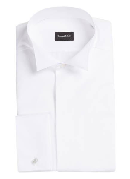 Ermenegildo Zegna Smoking-Hemd ROSSINI Regular Fit mit Umschlagmanschette, Farbe: WEISS STRUKTUR (Bild 1)