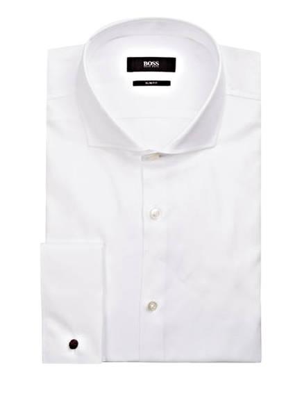 BOSS Hemd JAIDEN Slim Fit mit Umschlagmanschette, Farbe: WEISS (Bild 1)
