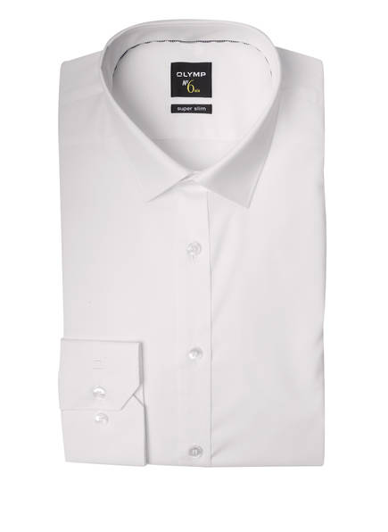 OLYMP Hemd No. Six super slim, Farbe: WEISS (Bild 1)