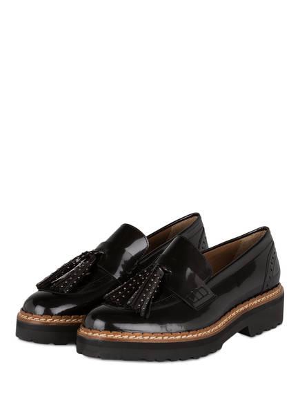 Pertini Tassel-Loafer aus Lackleder, Farbe: ANTHRAZIT (Bild 1)