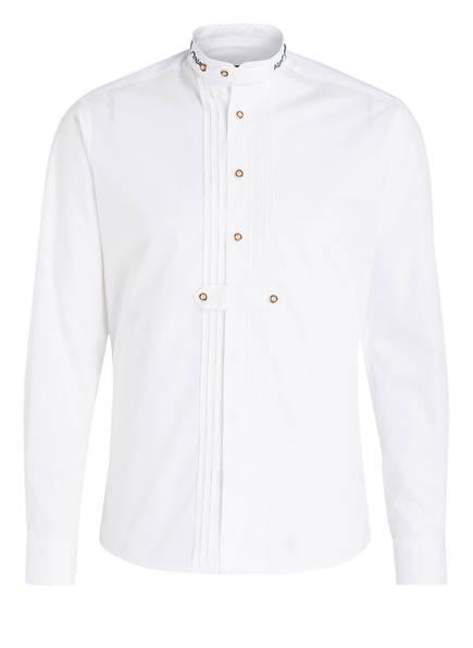 Wiesnkönig Trachtenhemd , Farbe: WEISS/ DUNKELGRÜN (Bild 1)