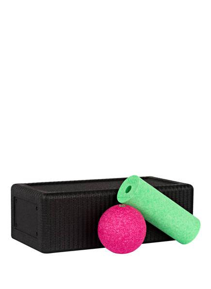 BLACKROLL Faszienmassage-Set BLOCK, Farbe: SCHWARZ/ PINK/ GRÜN (Bild 1)
