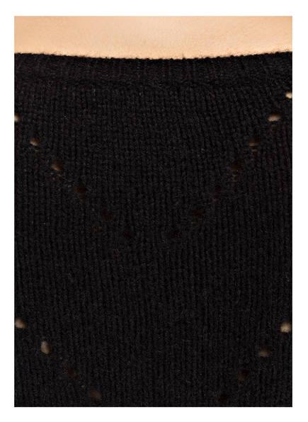 Mrs & HUGS Cashmere-Pullover mit Ajourdetails