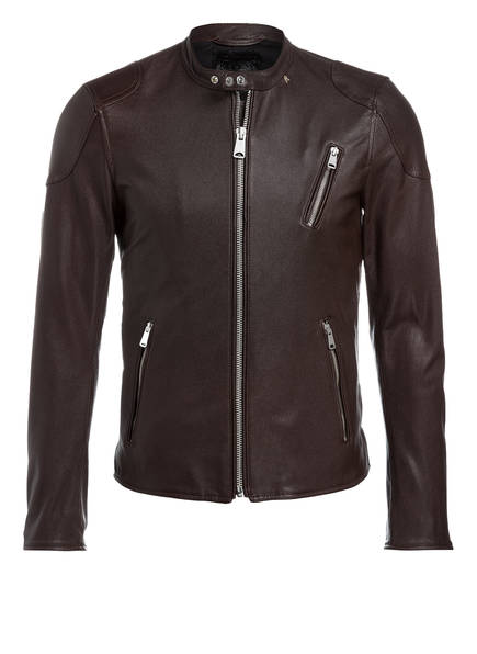 lederjacke im biker stil von replay bei breuninger kaufen. Black Bedroom Furniture Sets. Home Design Ideas
