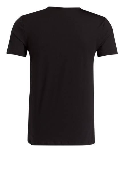 V Cotton shirt Mey Schwarz Dry 6wTBdqt